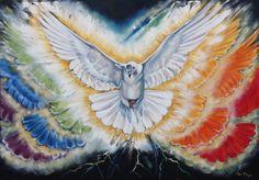 Prophetic oil paintings : The 7 Spirits of God Series : The Spirit of God www.artofkleyn.com