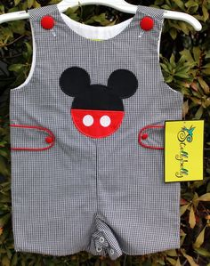 Mickey Mouse Jon Jon (Smocked by Stelly Belly)