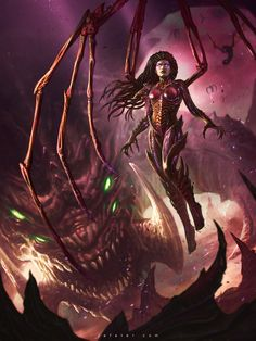Blizzcon Art Contest 2014 Kerrigan By Rafater by rafater on deviantART
