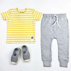 Simple soft , outfit ideas with our new Mini Rodini rib, stripe tee, I dig denim baggy crotch pants (baby / toddler sizes only) and our Native kids shoes Shop now :  www.hipkin.com.au  #hipkin #hipkinkids #minirodini #stripes #idigdenim #natives #keepitlite #grey #kidsfashion #ministyle #simple #organickidsclothing  Check previous posts for details of our $300 giveaway ⚡️