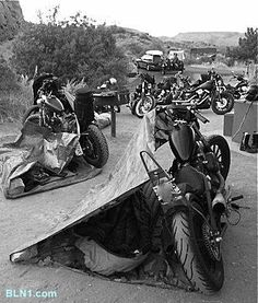 Not sure I could do this lol ;p........ Biker Lifestyle.. gotta love it!