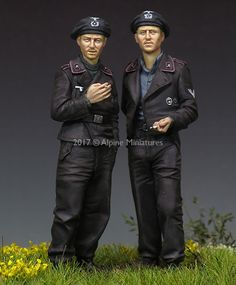German Panzer crew WW2 in 1/35 scale resin now available at highcalibreminiatures.com! Click on the pic for more details and FREE Worldwide shipping on all orders of $90 or more