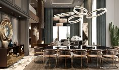 Luxury Private residence in Palestine Luxury Homes Interior, Luxury Home Decor, Luxury Apartments, Luxury Dining Room, Dining Room Design, Bungalow Interiors, Apartment Interior, Modern House Design, Decoration