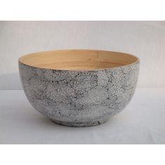 Tchon médium coquille d'oeuf : saladier avec pied en bambou Bibol
