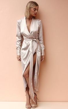 Maxi Satin Oyster by Never Fully Dressed on SilkFred
