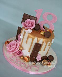 'EBONY' ~ birthday gold drip & roses with favourite chocolates 16th Birthday, Birthday Cakes, Gold Drip, Dream Cake, Drip Cakes, Celebration Cakes, Celebrity Weddings, Cake Designs, Chocolates