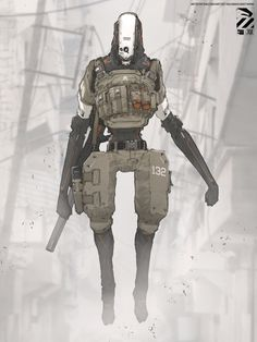 Nivanh Chanthara Nuthin' But Mech: Floating dude. Cyberpunk Character, Cyberpunk Art, Character Concept, Character Art, Character Design, Character Inspiration, Sci Fi Armor, Future Soldier, Robot Concept Art