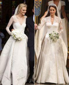 Caroline Trentini wedding dress #celebrityweddings #OliverTheyskens