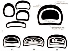 "Ovoids used in West Coast Native Art. The single most characteristic shape in all of Northwest Coast style art is the ovoid and these are some of it's variations, there are many more. They all follow the same rules effectively described by Bill Holm in his landmark book ""Northwest Coast Indian Art: an analysis of form"", 1965."