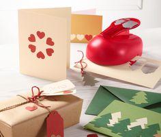 Anhänger, #Karten und Geschenke #kreativ verschönern mit dem Motivstanzer XL für €10,95 bei #Tchibo