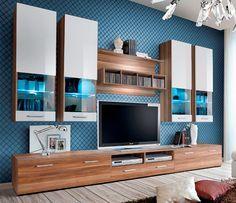 Torino 4 - Plum / white TV wall unit