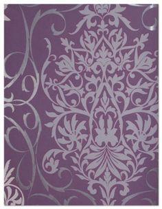 Tapete 796179 Rasch Tapeten Queens 2013 violett Barock Ornamente Vliestapete