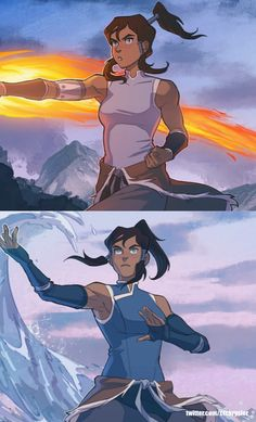 Avatar Airbender, Avatar Aang, Manado, Avatar World, Korrasami, Action Poses, Legend Of Korra, Animal Drawings, Cute Art