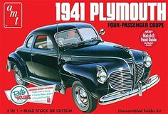AMT/ERTL 1941 Plymouth Coupe -- Plastic Model Car Kit -- 1/25 Scale -- #919