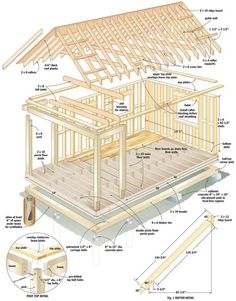 Build a Cabin - Bet you could use the plans to make a dollhouse version.