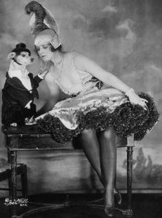 "Ziegfeld Girl ~ Olive Thomas  Don The Inebriate Dog in ""Midnight Frolic"" of 1915."