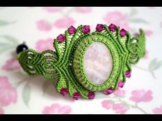 How to Make a Macrame Bracelet with Stone - Macramé Tutorial [DIY] - YouTube
