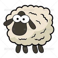 Buy Cartoon Sheep by InterestingMedia on GraphicRiver. Cute cartoon sheep made for unreleased mobile game. Dark skin, slightly brownish wool, huge eyes, legs: yes. Shaun The Sheep, Sheep And Lamb, Sheep Cartoon, Cute Cartoon, Black Cartoon, Sheep Drawing, Sheep Illustration, Sheep Face, Sheep Cards
