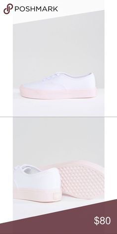 White and Pink Vans NWT Vans Shoes