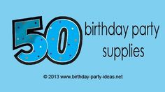 50th Birthday Party Supplies #50th #birthdaysupplies #birthday #partypack