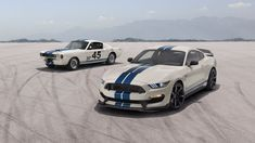 Ford Presents Rare Opportunity To Buy White Mustang With Blue Stripes There Are A Lot Of Powerful Feelings Mustang Shelby Ford Mustang Shelby Ford Mustang