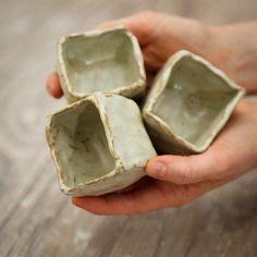 Mini Ceramic Box, Salt Cellar. $18.00, via Etsy. Kara Miller   ****I really just wanted to pin this because I'm pretty sure it'