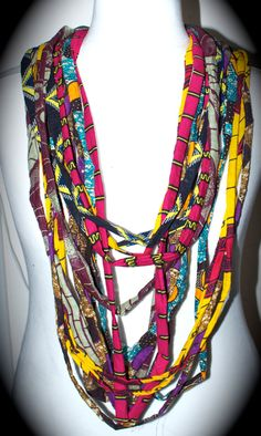 .... fabric necklace..