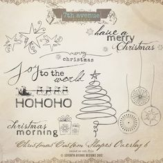 Christmas Custom Shapes Overlays vol.6. $20,00, via Etsy. Christmas Doodles, Christmas Card Crafts, Noel Christmas, Christmas Decorations, Doodle Drawings, Doodle Art, Addressing Envelopes, Merry And Bright, Kids Cards