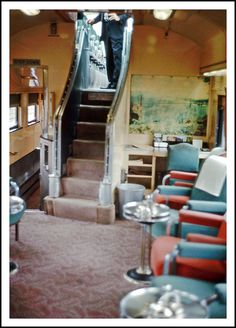 California Zephyr Obervation Lounge  OMG, this is it!! I loved going up and down those stairs!!