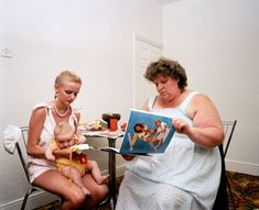 Martin Parr GB. England. Greater Manchester. Salford. Lingerie Party. From 'Home and Abroad'. 1986.