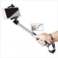 Selfie Stick Bluebits SelfPortrait Monopod Extendable Wireless Bluetooth with Builtin Remote Shutter Foldable for Pocket on the go for iPhone 6 Plus 6S 5 5S 5C 4 4S iOS Samsung Galaxy S6 S5 Android ** Visit the image link more details.