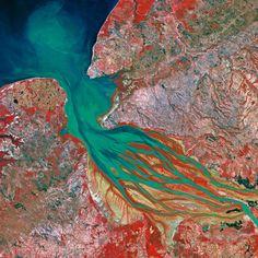 Earth from Space.  Madagascar, Bombetoka Bay
