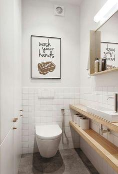 Space-saving toilet design for small bathrooms - Home to Z. Space-saving toilet design for small bathrooms - Home to Z. smalltoiletroomsmalltoiletroomSpace-saving toilet design for small bathrooms - at home for Z Space-saving toilet design for Small Toilet Design, Small Toilet Room, Guest Toilet, Small Toilet Decor, Space Saving Toilet, Laundry In Bathroom, Bathroom Pink, Bathroom Storage, Bathroom Shelves