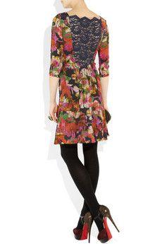 Erdem- Fenella floral print silk crepe de chine dress 940$