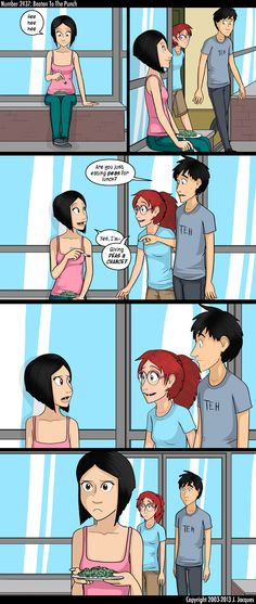 Questionable Content: Beaten to the Punch Cute Comics, Funny Comics, 4 Panel Life, Short Comics, Nerd Love, Teen Posts, Limes, Derp, Interesting Stuff
