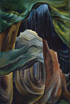 Emily Carr - Forest, British Columbia - Canada, Canadian Oil Painting - Group of Seven Art Print by ArtExpression - X-Small Tom Thomson, British Columbia, Canadian Painters, Canadian Artists, Kandinsky, Emily Carr Paintings, Vancouver Art Gallery, Mystique, Impressionist Paintings