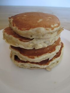 Cinnamon oat pancakes - our new favorite.