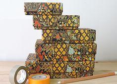 Chiyogami boxes for les-papiers-de-Lucas.