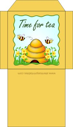 Tea bag envelope...bee a tea gifter, super-cute to include in a greeting card & invitation, for any occasion!! =)