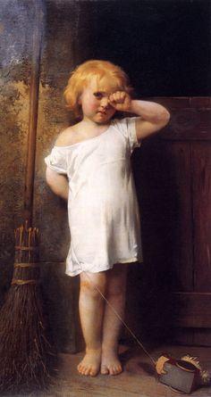 Léon Bazile Perrault (1832-1908)  En Penitence  Oil on canvas  1876