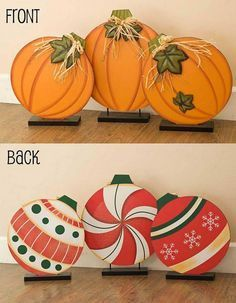 Check it out DIY Reversible Pumpkin & Ornament Decoration…these are the BEST Fall Craft Ideas & DIY Home Decor! The post DIY Reversible Pumpkin & Ornament Decoration…these are the BEST Fall Craft… appeared first on 99 Decor . Kids Crafts, Fall Crafts For Kids, Craft Projects, Craft Ideas, Kids Diy, Fall Wood Crafts, Decor Ideas, Painted Wood Crafts, Winter Craft