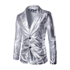 >> Click to Buy << Male nightclub bar stage costumes silver tide slim blazer jacket fashion casual coat high qualtiy clothes for singer dancer star #Affiliate