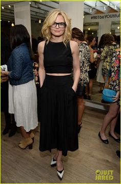 Jennifer Morrison Step Out to Support Friends at Nine Zero One Salon Launch
