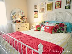 Interior Design Ideas for Girls' Bedroom  - Neutral bedroom colour then can add colourful accessories