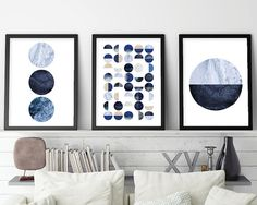 Set of 3 Prints, Print Set, Scandinavian Print, Scandinavian Art, Scandinavian…