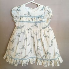 Janie And Jack Easter Dress Girls 18-24 Months Spring Toddler Baby White Floral #JanieandJack
