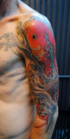 kyoto carp.Gakkin tattoo - 50 Awesome Fish Tattoo Designs <3 <3