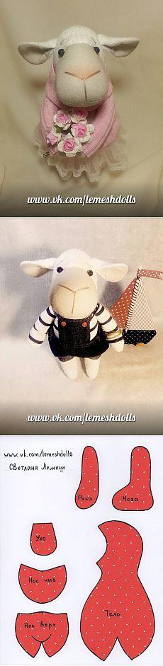 Cordero de Svetlana Lemesh / Toy Mundial / Varios juguetes hechos a mano