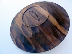 Betzy Wood Art | Carved Walnut Bowl [Fine take on a traditional plate]