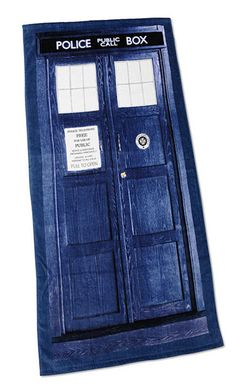 Doctor Who Tardis Beach Towel $29.99  BIRTHDAY IS JULY 18, I WILL ACCEPT THIS!!